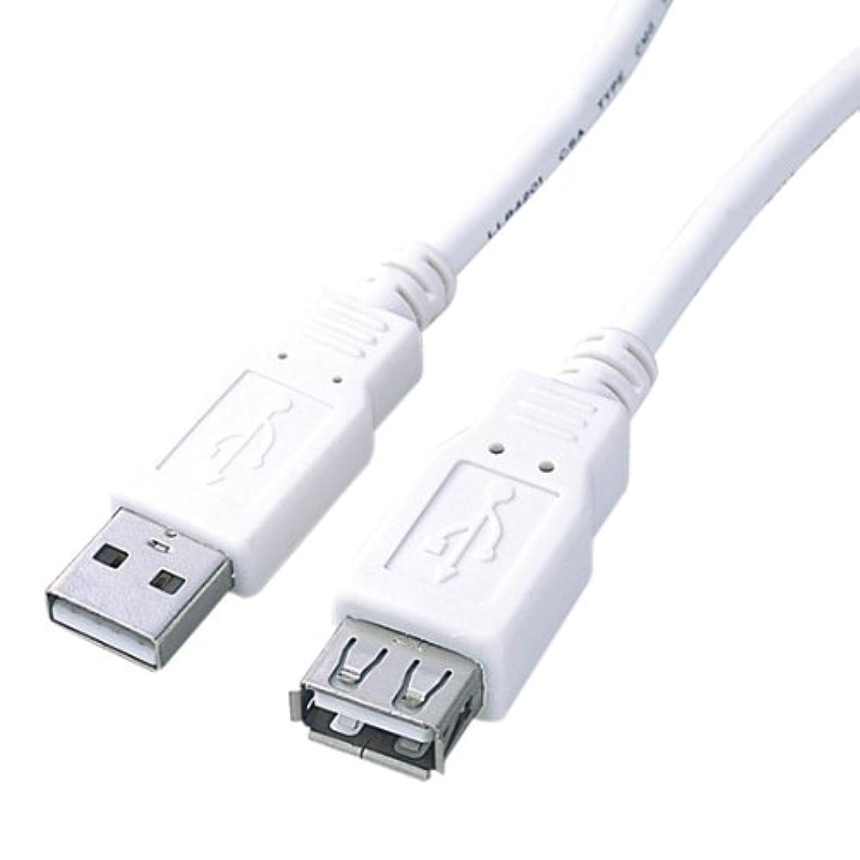 暗記するフィット逆にロアス USB2.0延長ケーブル 1m ホワイト ZUH-E10W