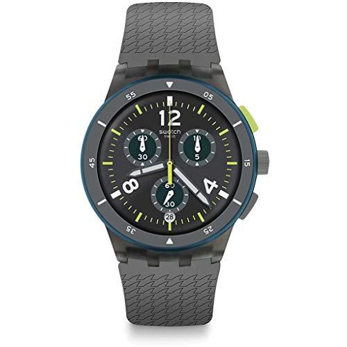 Swatch Reloj Cronógrafo para Hombre de Cuarzo con Correa en Silicona SUSM407