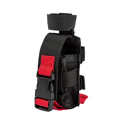 OneTigris Taktische Tourniquet Pouch und medizinische Schere Tasche - MOLLE Outdoor EMT Notfalltasche |MEHRWEG Verpackung (Schwarz