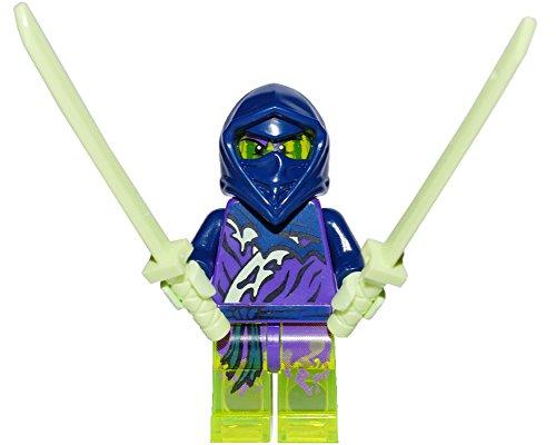 LEGO Ninjago Minifigur Ghost Ninja Hackler mit zwei Katana 70732 70738 70735