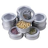 barsku 24-teilige r&e Metalldosen, Leere Aluminiumdosen, Aufbewahrungsbehälter für Schraubdeckeldosen, Leere Objektträgerbehälter für Küchenbüros