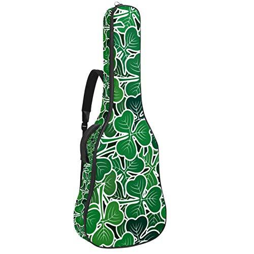 Gitarrentasche für Akustikgitarre, 104 cm, hochwertig, doppelt verstellbar, mit Piktogrammen