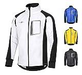 CYCLEHERO - Chaqueta de ciclismo impermeable y transpirable reflectante, chaqueta para exterior (blanco, S)