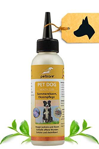 Peticare Spezial Haut-Pflege für Hunde bei Dermatitis, Neurodermitis, Ekzeme - Effektive Linderung gegen Juckreiz, pflegt Haut-Probleme beim Hund, pflanzliche Inhaltsstoffe - petDog Health 2100
