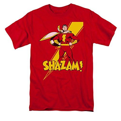 Shazam Shazam! Camiseta de manga curta adulto, Vermelho, 3XL