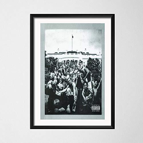 wtnhz Senza Telaio Kendrick Lamar Damn Humble Hot Music Album Cover Hip Hop Rap Music Star Art Painting Silk Canvas Poster Wall Home Decor 40x60cm