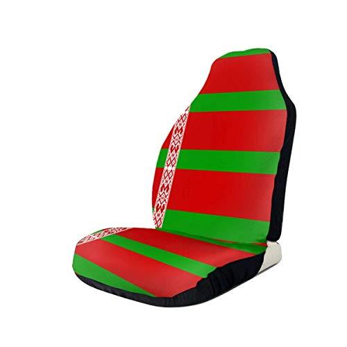 Little Yi Bielorrusia Flag Car Asientos delanteros Fundas Universal Fit La mayoría de los automóviles