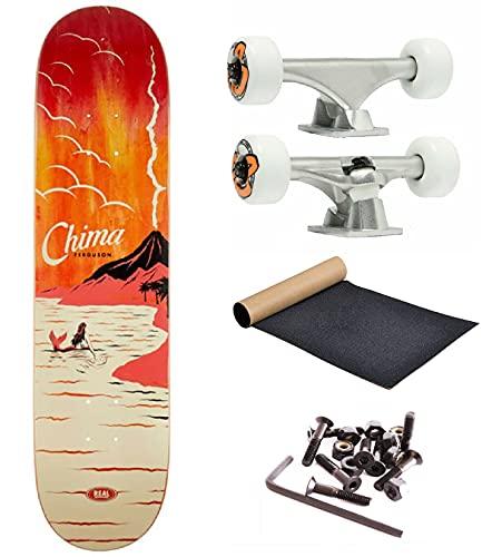 SKATE COMPLETO Crea il tuo Skate completo PROFESSIONALE alta qualita' set up e tavola (Bullet kit- og wheels - Real Skateboard 8.06')