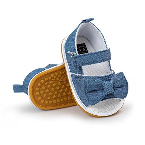 Primeros Zapatos Walker, Zapatos de Sandalias Pajarita de Verano de Suela de Goma Suave de Las niñas bebés niñas