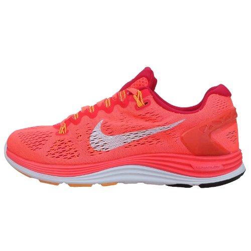 Nike Wmns Lunarglide+ 5, Zapatillas de Running Mujer, Naranja (LSR Crmsn/White-LGN Rd-ATMC MN), 38 1/2