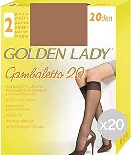Golden Lady, Golden Lady Juego de 20hasta La Rodilla melón X2filanca 20den calcetín de Mujer Accesorio Moda, única
