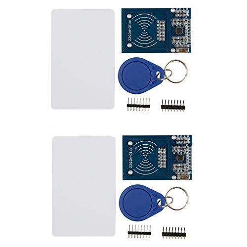 HiLetgo 2個セット MFRC RC522 MFRC522 RFID IC カード リーダー モジュール MFRC522 S50 RFカードモジュール