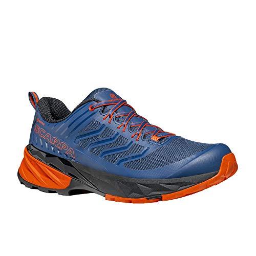Scarpa Rush GTX, Zapatillas de Trail Running Hombre, Blue-Fiesta Gore_Tex SHC Free-Dome, 40 EU