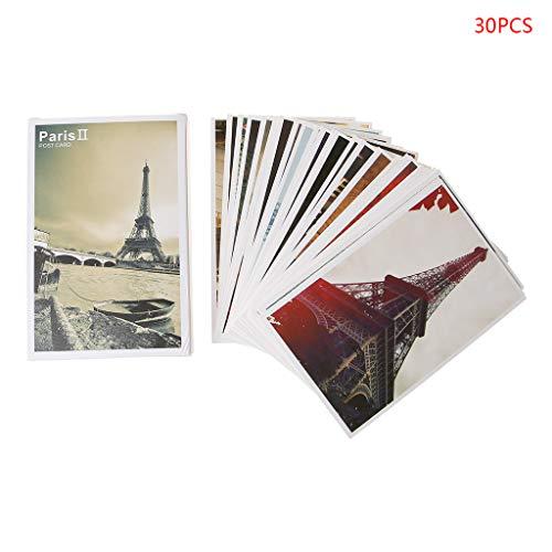 Tinaa Postkarte Paris für Sammlung, 30 Stück