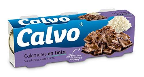 Calvo Calamares En Tinta - Paquete de 3 x 50 gr - Total: 150 gr
