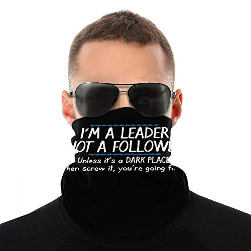 MMNN I'm A Leader Bandana Heandband face Covering Neck Gaiter Balaclava