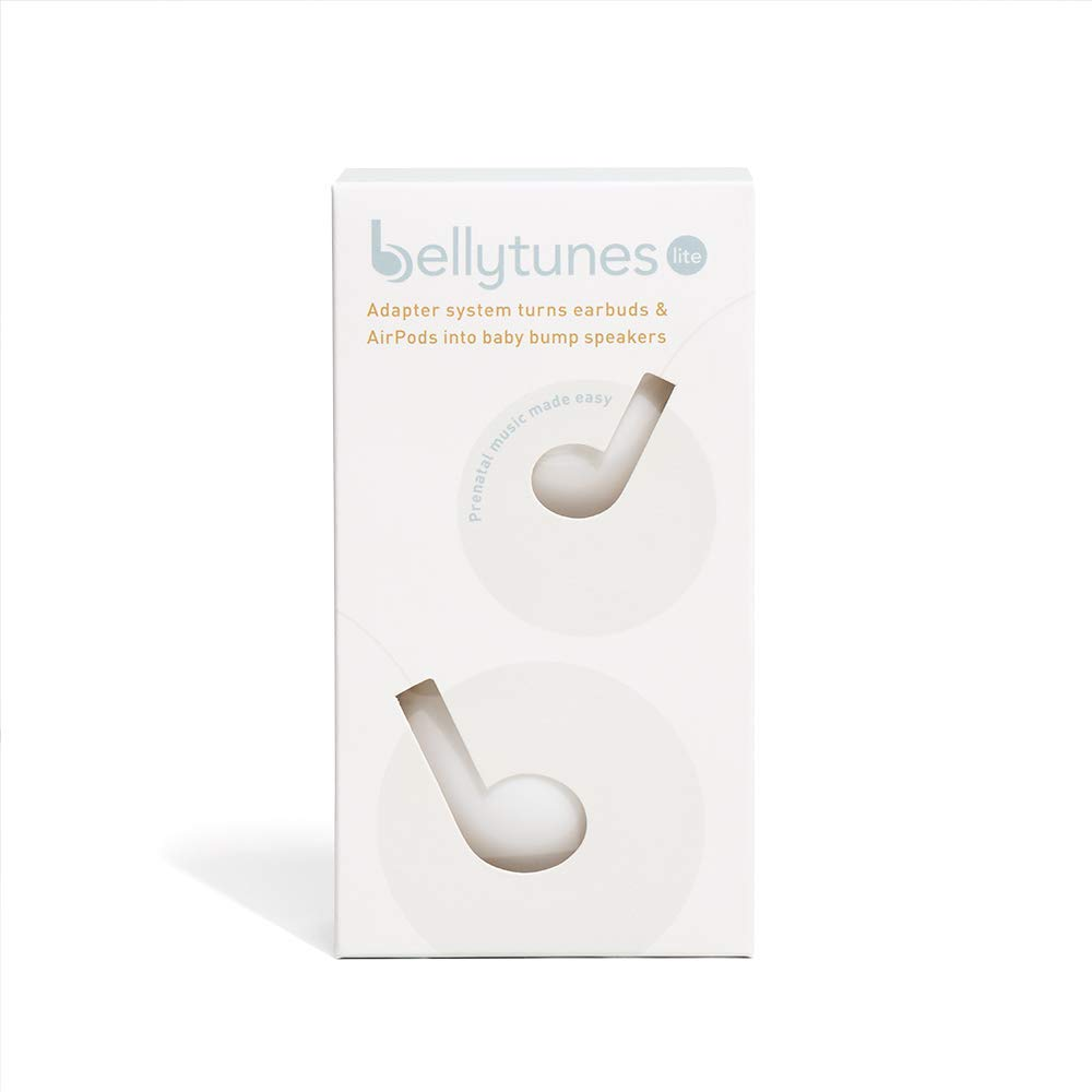 Bellytunes Prenatal Pregnancy Earbuds Adapter System for iOS & Samsung Devices | Turns Ear Bud Into Baby Bump, Belly Speakers, Pregnancy Headphones (Bellytunes Lite)