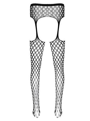 winying Herren Sexy Feinstrumpfhose Overknee lange Strumpf mit Strumpfbänder Durchsichtig Strapse Spitzenstrümpfe Männer Sissy Reizwäsche Typ B OneSize