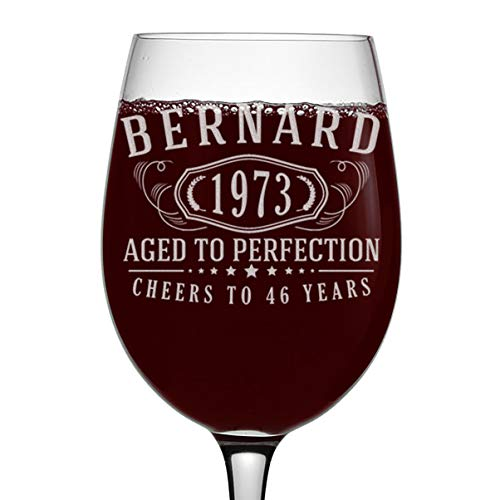 Personalized Aged to Perfection Wine Glass