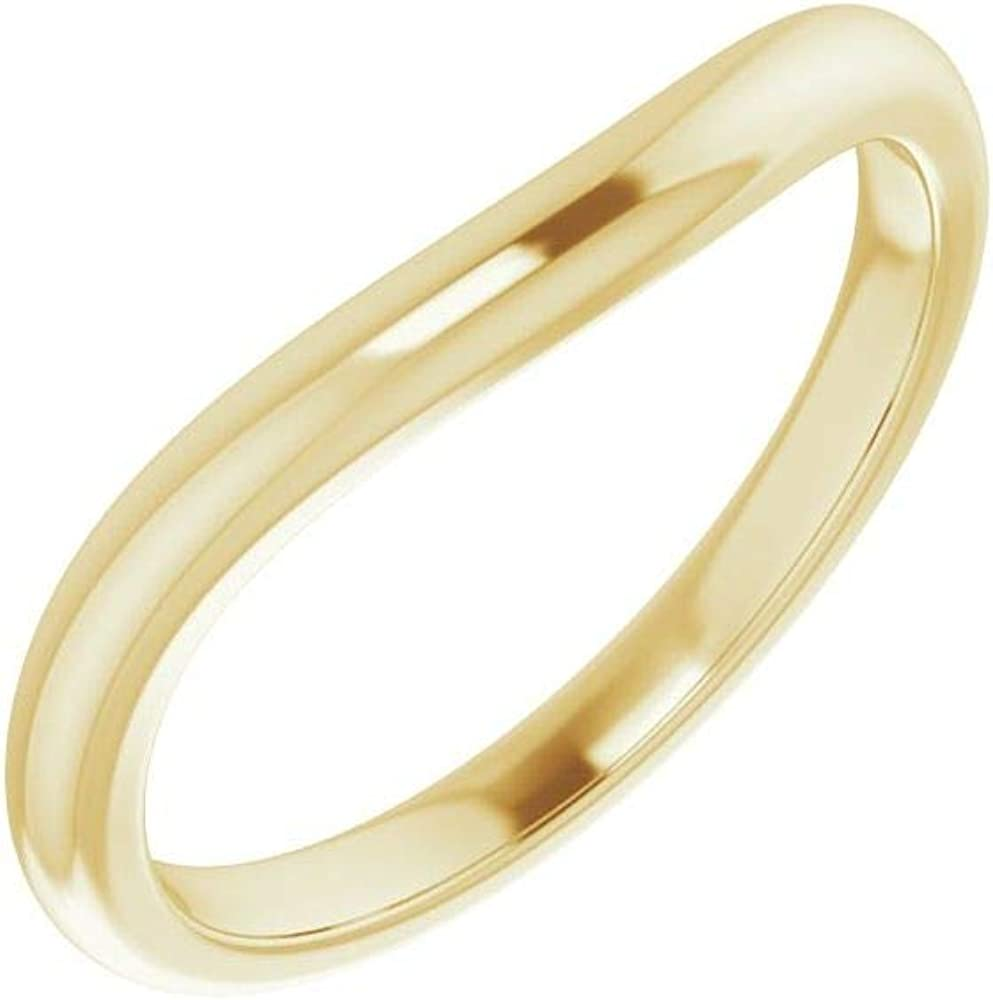 Solid 10K Yellow Gold Curved Notched Seattle Mall Wedding x 5mm Discount is also underway 5 for He Band