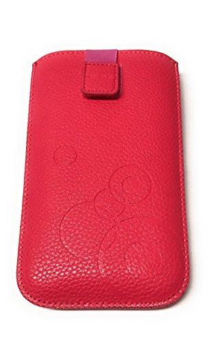 Handytasche Circle pink geeignet für Cyrus CS28 Hipster - Handy Schutz Hülle Slim Case Cover Etui mit Klettverschluss und Gürtelschlaufe