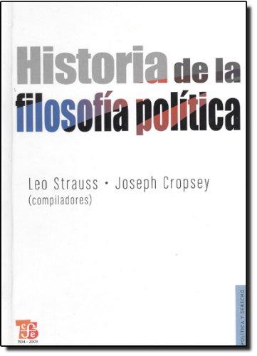 Historia de la filosofia politica (Politica Y Derecho)