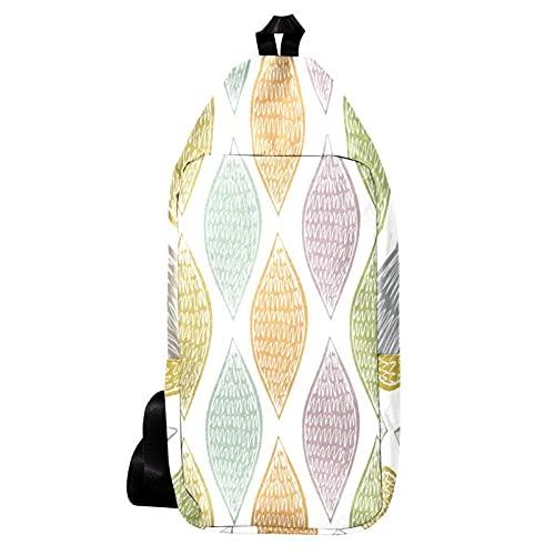 EZIOLY Mochila de hombro de husillo marrón dibujado a mano abstracta bolsa...