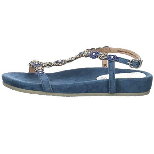 Salamander Damen Sandalen Ginie Sandale Velour blau Gr. 42