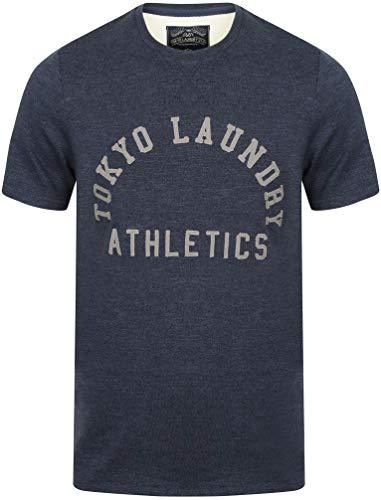 Tokyo Laundry - T-Shirt - 'Aspenburg' - Girocollo - Manica Corta - Uomo (Grigio Blu) S