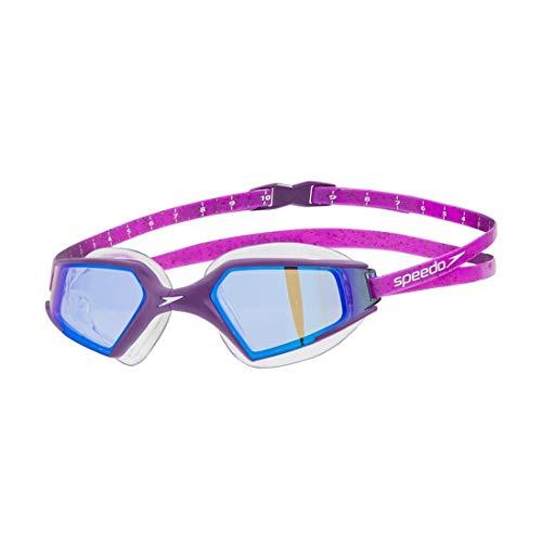 Speedo, Aquapulse - Occhialini Nuoto Adulto, 3D Unisex, Occhialini Piscina, Colore Viola/Blu