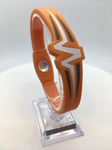 Mojo Raptor 8' doppio braccialetto olografico - arancione/bianco/grigio