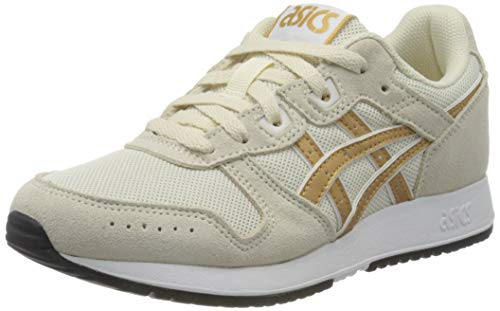 ASICS Womens Lyte Classic Running Shoe, Birch/Pure Gold, 39 EU