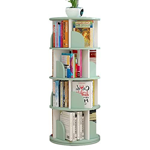 Librerías 360 ° Rotating Bookshelf, Biblioteca de Almacenamiento de Gran Capacidad para niños de Esquina Mesa de Centro Redonda, desarrolla la Capacidad práctica de los niños