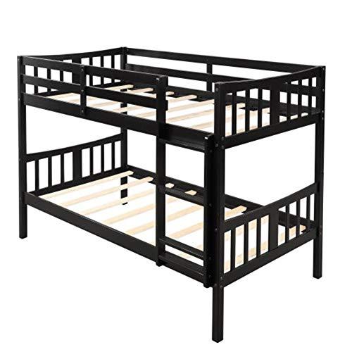 Ianqujiangxinqujianjunbaih Thuis Bed Kinderen Slaapkamer Twin Over Twin Stapelbed Houten Tweepersoonsbed Met Ladder Stapelbed Voor Volwassenen Kinderen Tieners