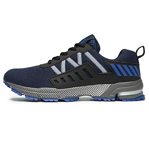 FITORY Sportschuhe Laufschuhe Gym Turnschuhe Atmungsaktiv Straßenlaufschuhe für Herren Damen Blau Gr.45