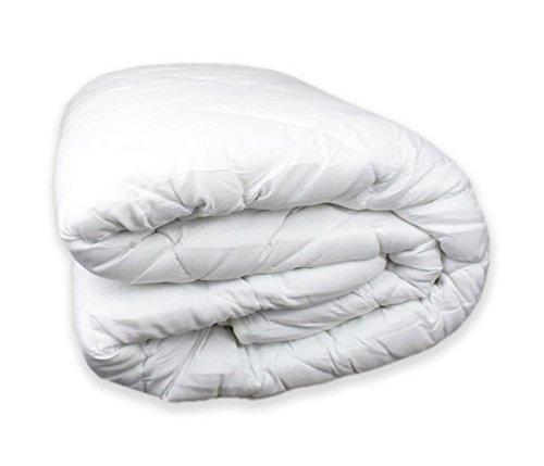 Tata Home Piumino Invernale Imbottitura 300 gr/mq in Morbida Microfibra Misura 1 Piazza Singolo cm 155x200 Colore Bianco
