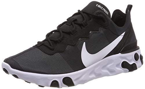 Nike React Element 55, Zapatillas de Running para Hombre, Negro (Black/White 003), 41 EU