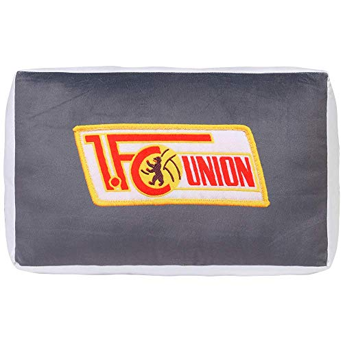 1. FC Union Berlin kussen pluche logo grijs