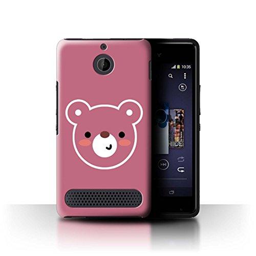 Stuff4®Phone Case/Cover/Skin/sxp-CC/Cute Minimalist Animals Collection, Compatible con Sony Xperia E1