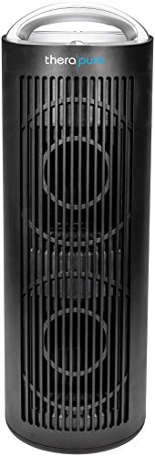 ENVION - Therapure TPP620 Tower Air Purifier with Handle, 4-Step Purification & HEPA-Type Filter (Black)