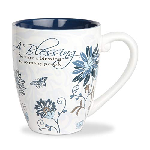 Pavilion Gift Company 66338 Blessing Ceramic Mug, 17-Ounce, Mark My Words,Multicolored