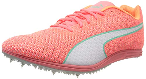 PUMA Damen Evospeed Distance 8 Wn Leichtathletikschuhe, Ignite Pink White-Green Glimmer, 38 EU