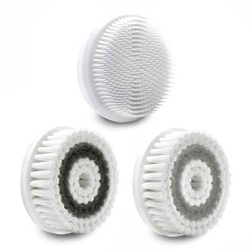 Fancii Cora Facial Brush Replacement Heads, Pack of 3 (Face Complete)