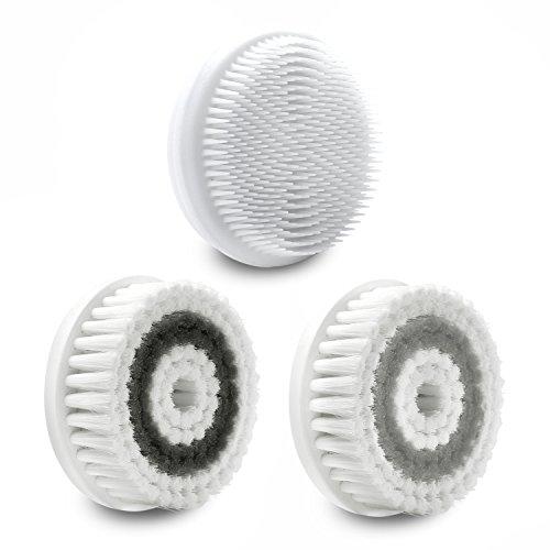 Fancii Cabezales Para el Cepillo Facial Cora de Repuesto, Pack de 3 (Completo de Cara)
