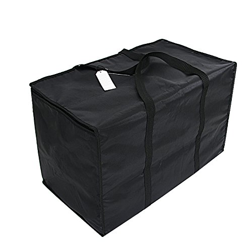 Insulated Nylon Heated Pizza/Food Delivery Bag Black Food Packing Nylon Bag by 23in by 13in by 15inch Black