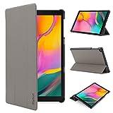 iHarbort Hülle Cover kompatibel mit Samsung Galaxy Tab A 10.1 Zoll (2019 veröffentlicht SM-T510 / T515) - Ultra dünn Etui Schutzhülle Hülle Holder Stand (Grau)