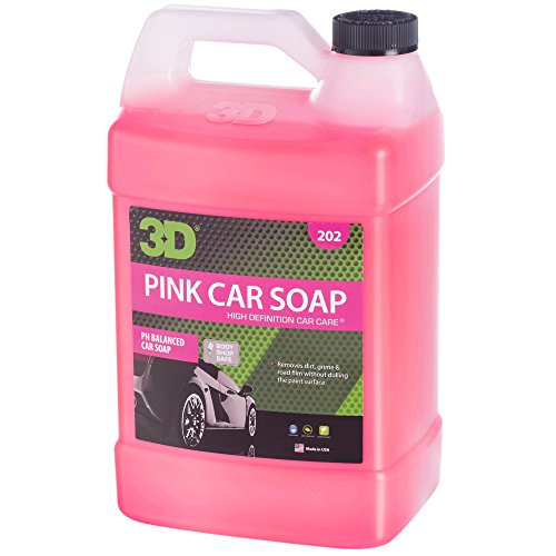 3D Pink Car Soap - 1 Gallon | Car Wash & Cleaner | Made in USA | All Natural | No Harmful Chemicals