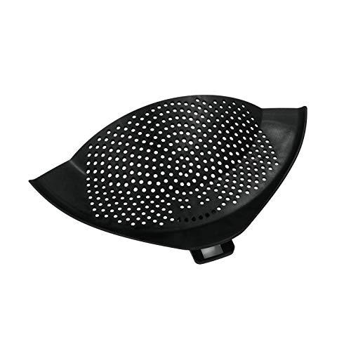 """Metaltex 111502038 Abgießhilfe """"Clip On"""" mit Halteclip, Kunststoff, schwarz, 28 x 14 x 1,5 cm"""
