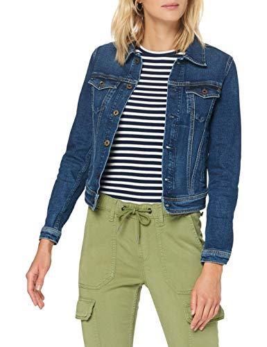 Pepe Jeans Core Jacket Chaqueta Vaquera, Azul (Denim 000), Small para Mujer