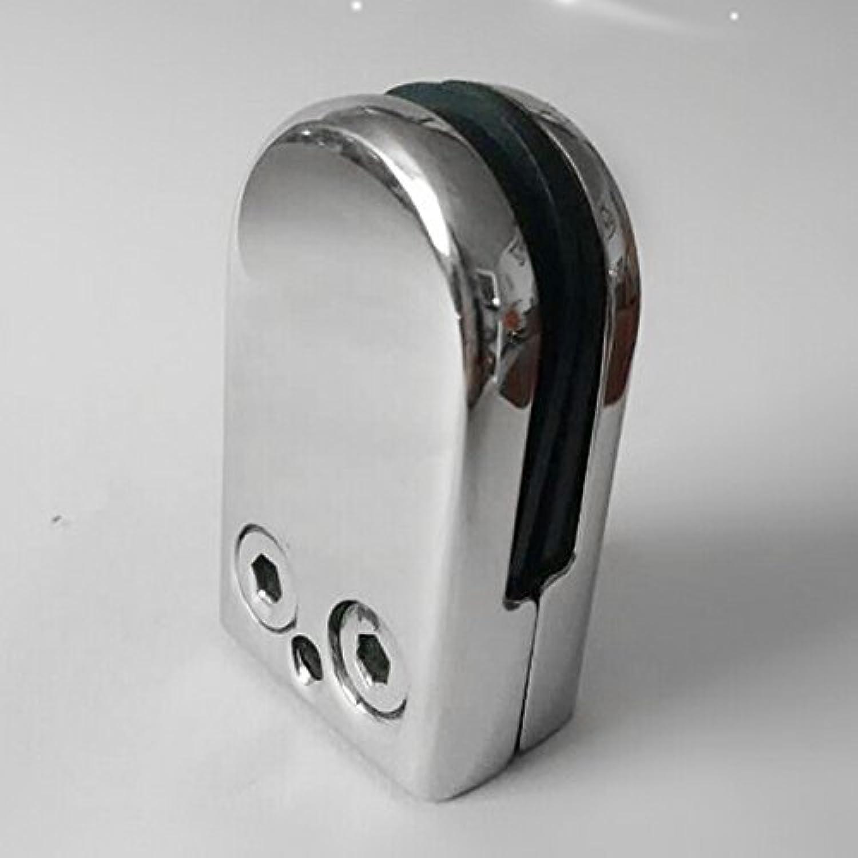 AMOMAZ 8X Stainless Steel Glass Clamp Holder for Window Balustrade Handrail 533320 mm